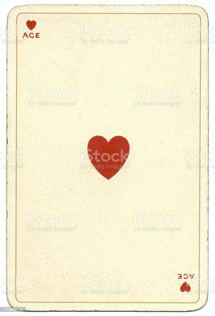 As de coeur Dondorf Shakespeare antique jouant la carte - Photo