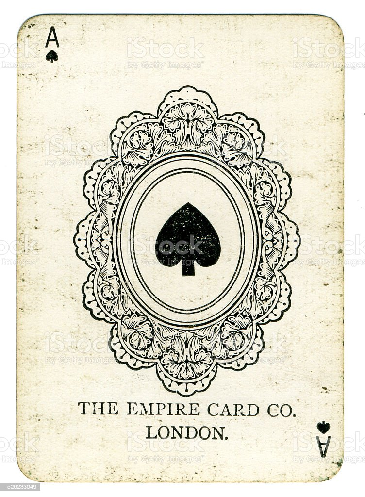 Ace of spades The Empire Card Company London stock photo