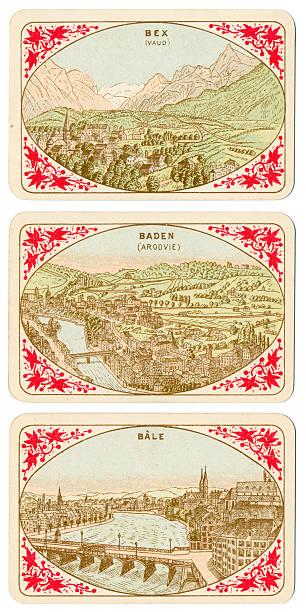 Spielkarten der Schweiz 1880 Bale Baden Bex – Foto