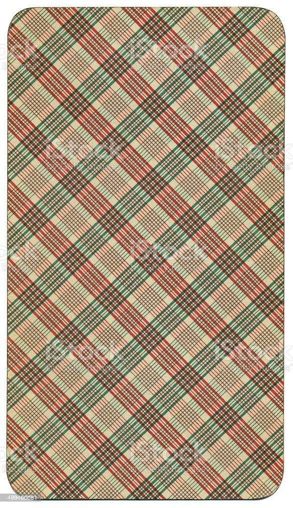 Card back reverse Tarot Austrian Taroch 1900 stock photo