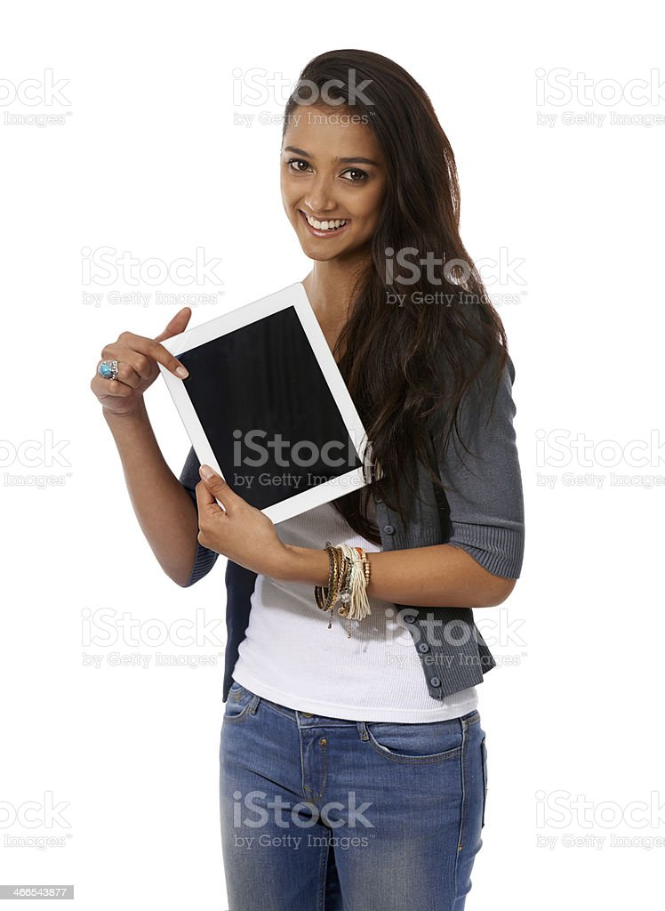 This is the best tablet ever! royalty-free stock photo