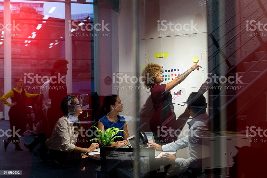 This is the business plan! stock photo