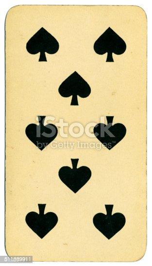Ocho de picas carta Tarot Tarock austríaco 1900