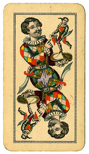 Tarot Fool o Joker austríaco Taroch carta de 1900 - foto de stock