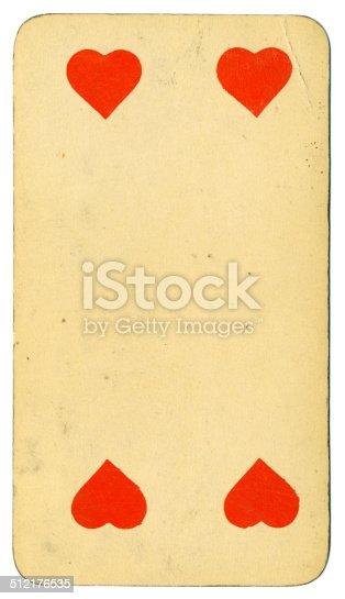 Cuatro de corazones carta Tarot Tarock austríaco 1900