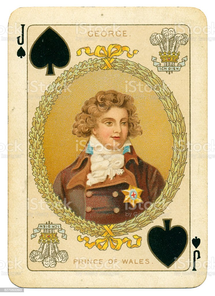 George Prince of Wales Jack of Spades stock photo