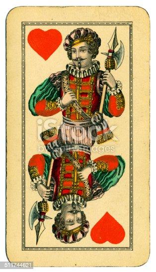Knave de corazones carta Tarot Tarock austríaco 1900
