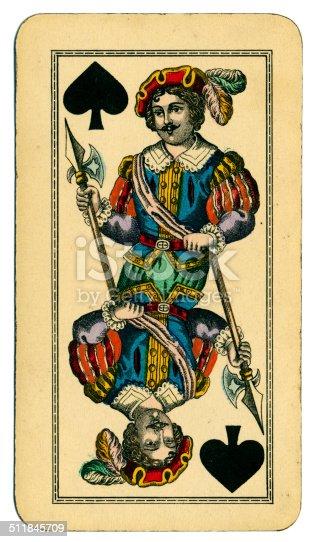 Knave de picas carta Tarot Tarock austríaco 1900