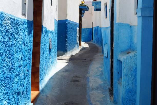 detta är kasbah udayas eller oudayas i rabat, marocko - kasbah bildbanksfoton och bilder