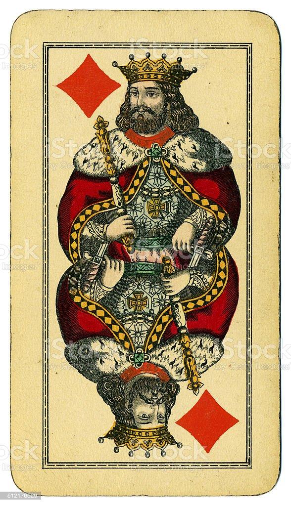 King of Diamonds Tarot Austrian Taroch 1900 stock photo