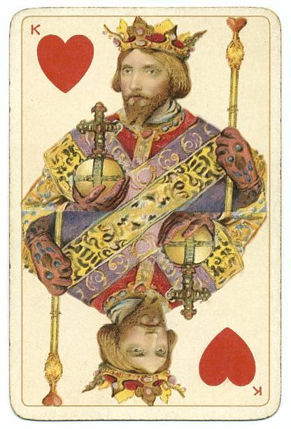 herz könig dondorf shakespeare antiken spielen-karte - hochkönig stock-fotos und bilder