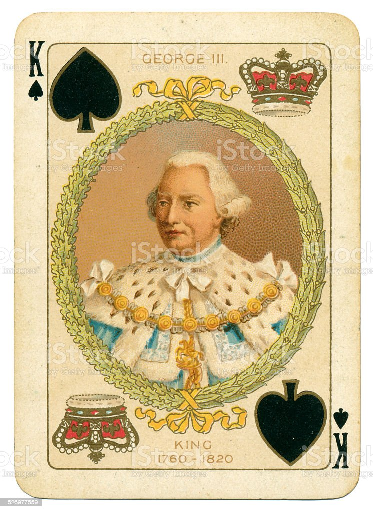 King George III of England King of Spades stock photo