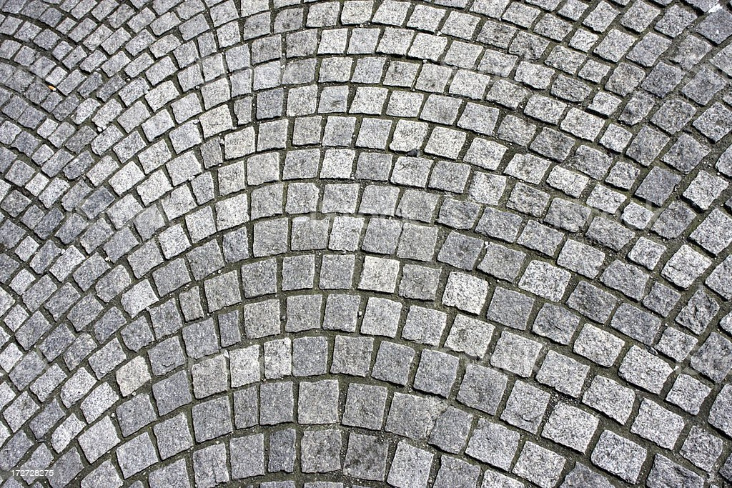 Modern grey stone tiled paving outdoor background stock photo
