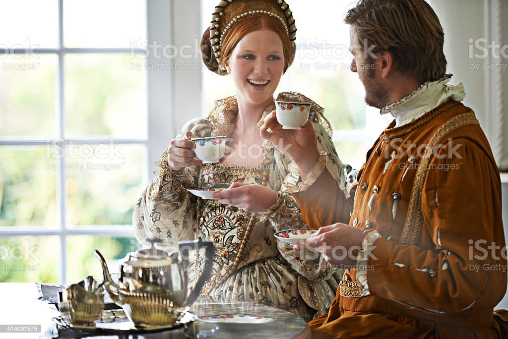 This is the most marvelous tea m'lady stock photo