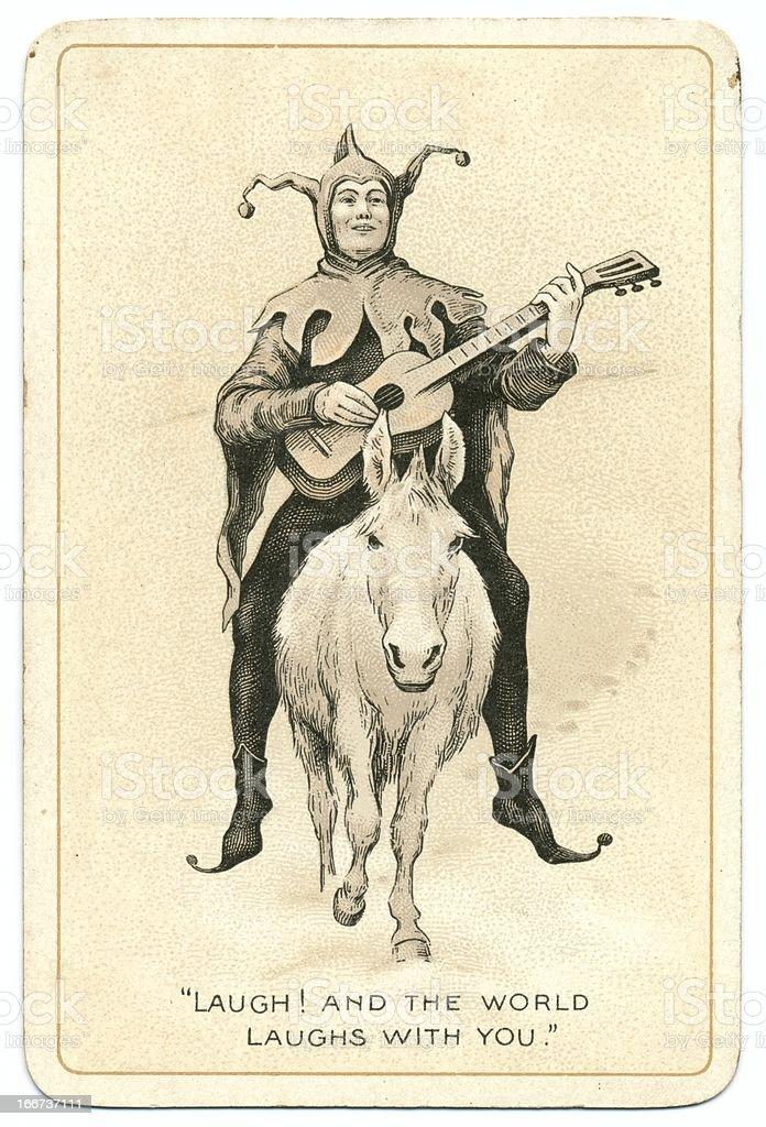 Joker antique Dondorf playing card stock photo