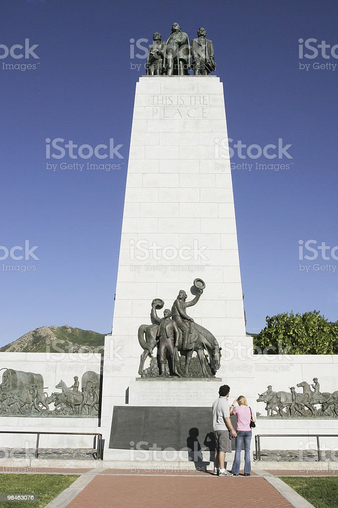 This is the place - Brigham Young royalty-free stock photo