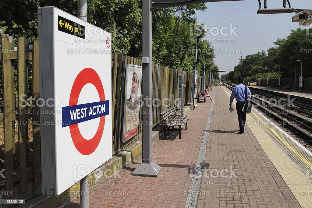 West Acton tube station London W3 stock photo