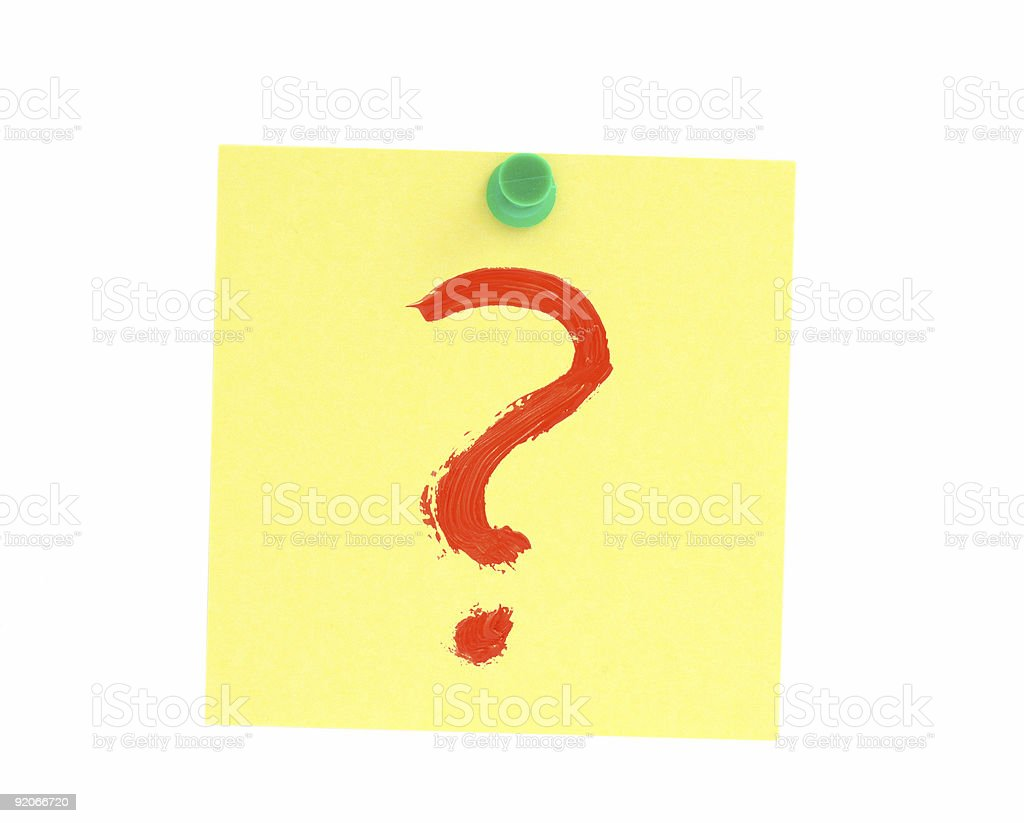 this is the question royalty-free stock photo
