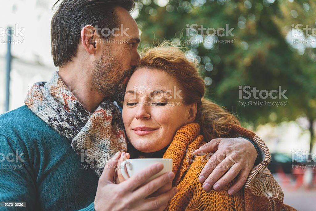 This is the real happiness stock photo