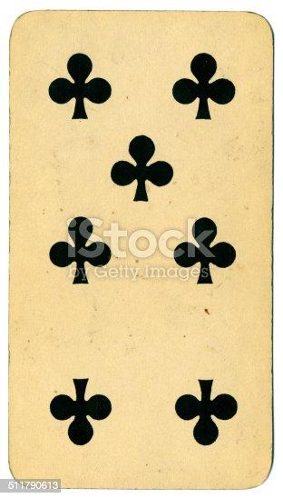 Siete de tréboles carta Tarot Tarock austríaco 1900