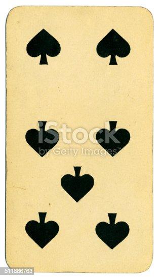 Siete de picas carta Tarot Tarock austríaco 1900