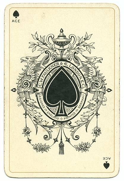 Dondorf Shakespeare 1895 as de pique antique jouant la carte - Photo