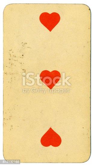 Tres de corazones carta Tarot Tarock austríaco 1900