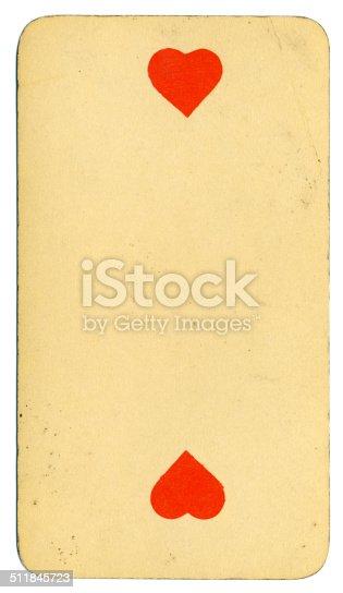 Dos de corazones carta Tarot Tarock austríaco 1900