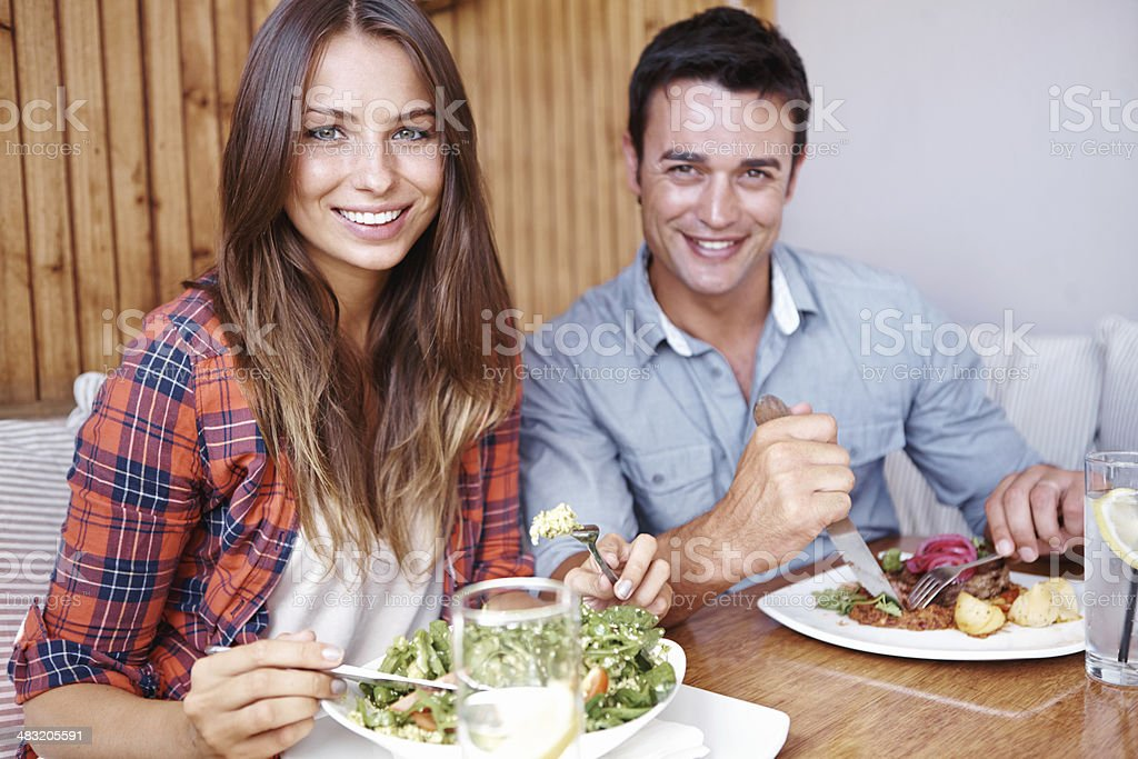This is their favourite place to eat royalty-free stock photo