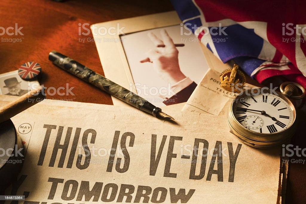 This is VE Day stock photo