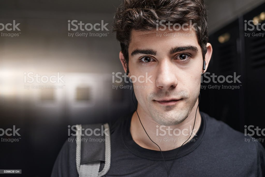This is where I get my fitness fix stock photo