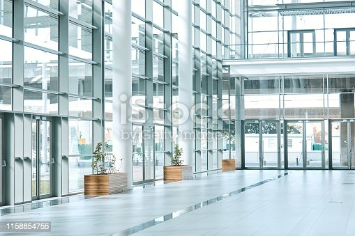 Still life shot of an empty office building
