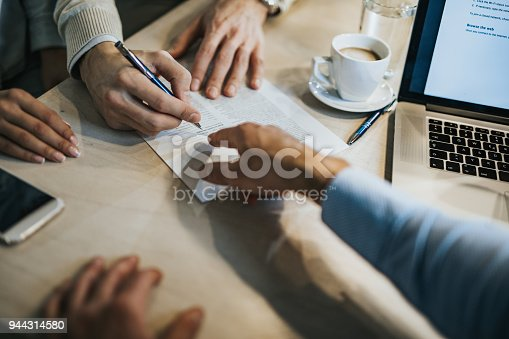 istock This is where you need to sign! 944314580