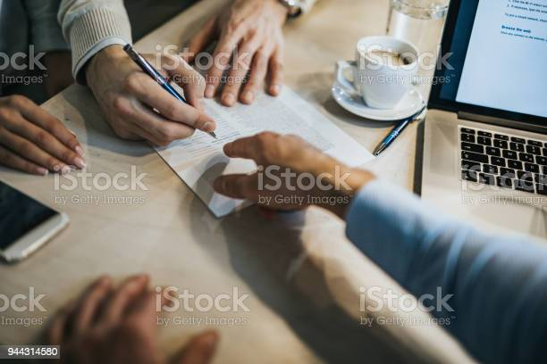This Is Where You Need To Sign Stock Photo - Download Image Now