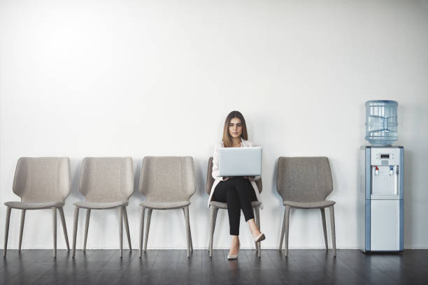 This job is mine Studio shot of a businesswoman waiting in line against a white background military recruit stock pictures, royalty-free photos & images