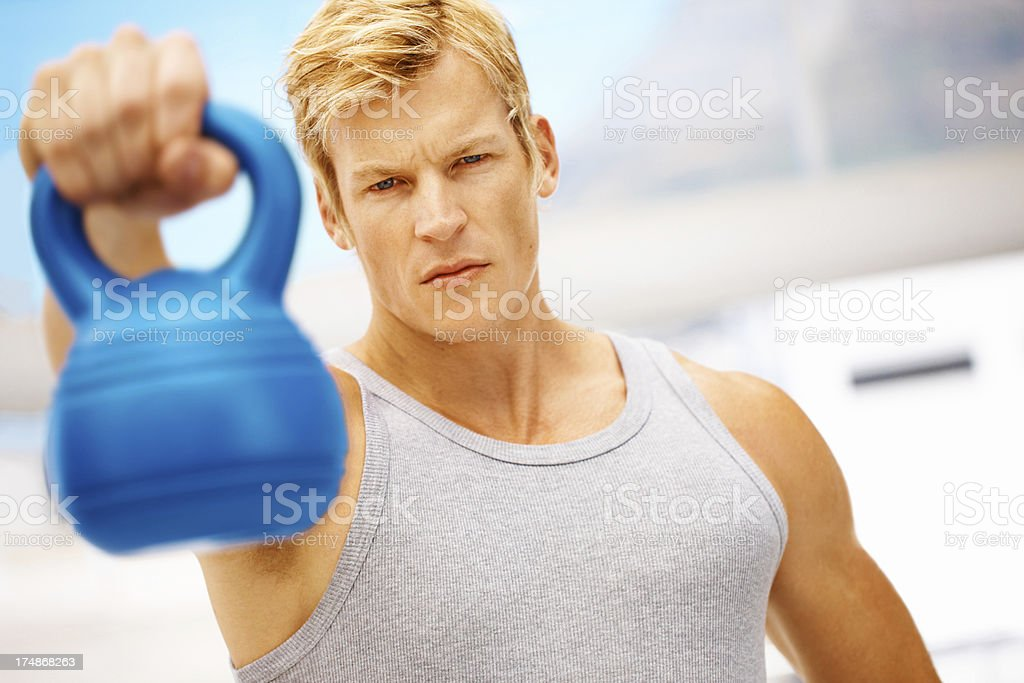 This kettlebell is invaluable for muscle building royalty-free stock photo