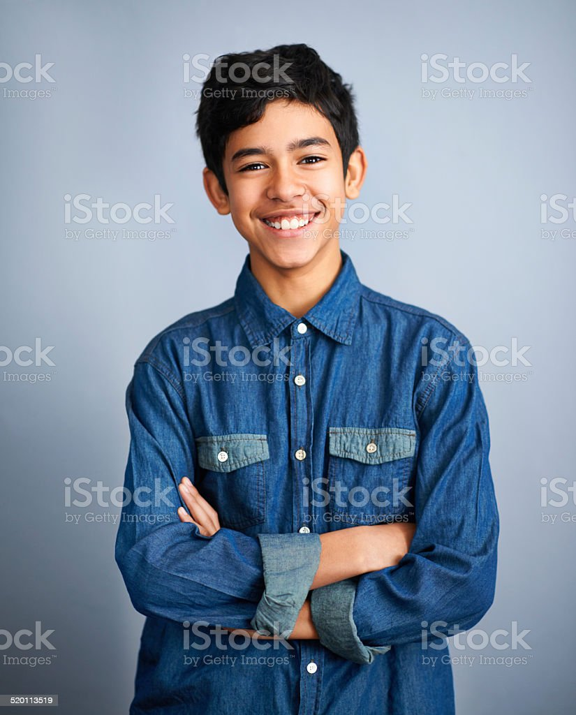 This kids got confidence stock photo