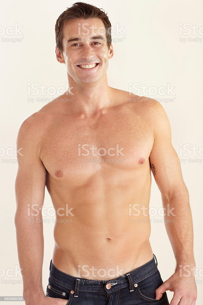 This kind of body doesn't just 'happen'! stock photo