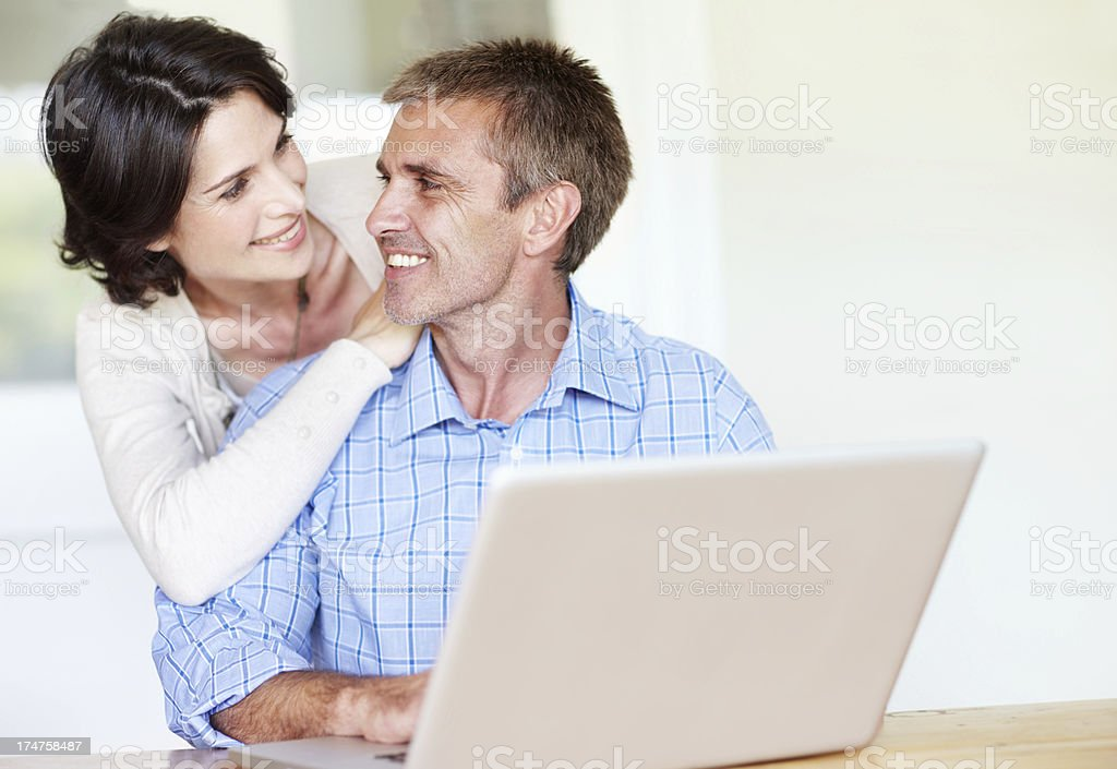 This laptop is great royalty-free stock photo