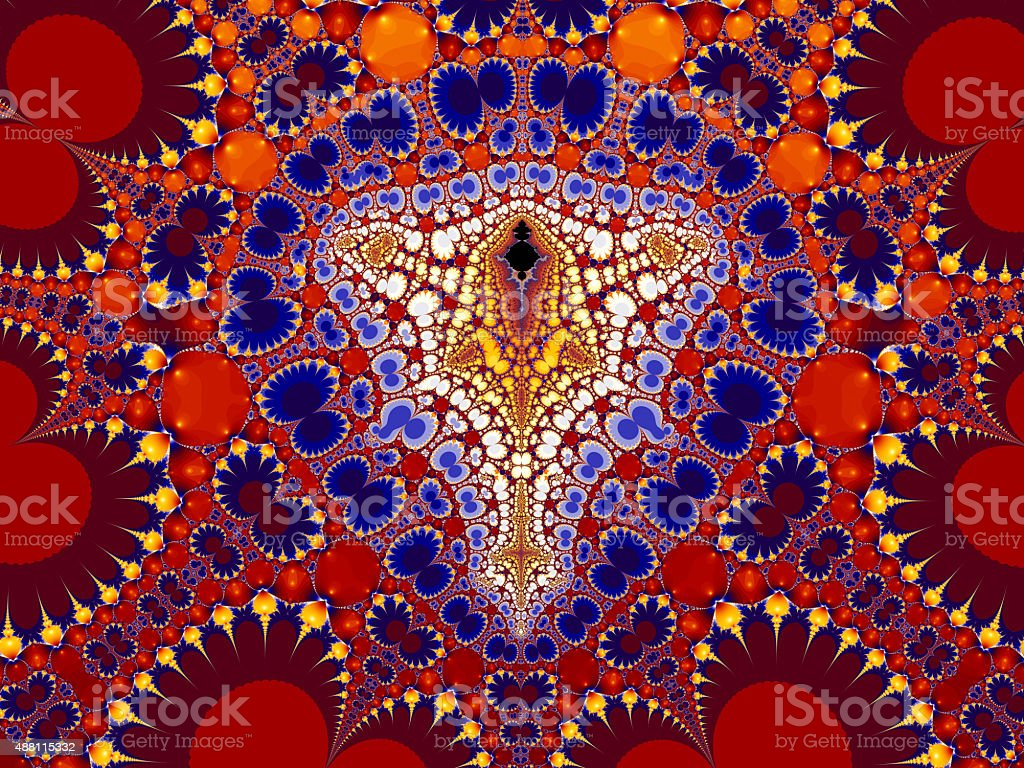 Colourful abstract mosaic pattern fractal image stock photo
