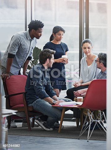 491244494 istock photo This meeting is packed with creative minds 491244582