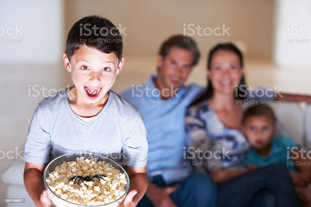 This movie is the greatest! stock photo