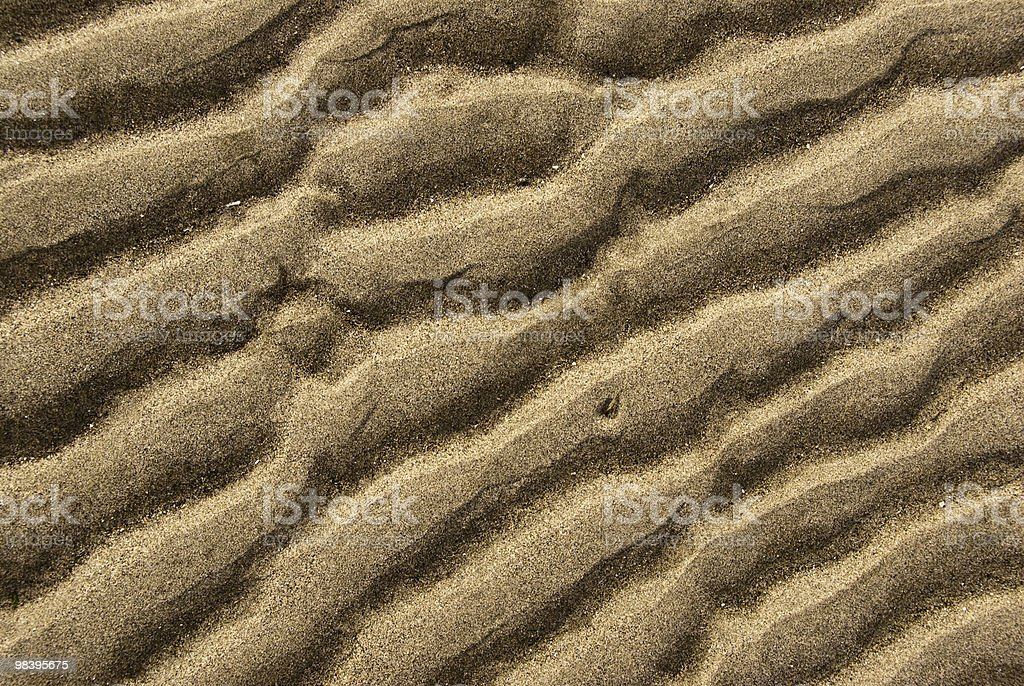 Wave Pattern in the Sand royalty-free stock photo