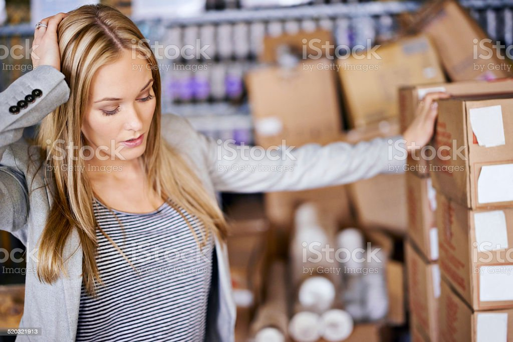 This new order is a headache! royalty-free stock photo