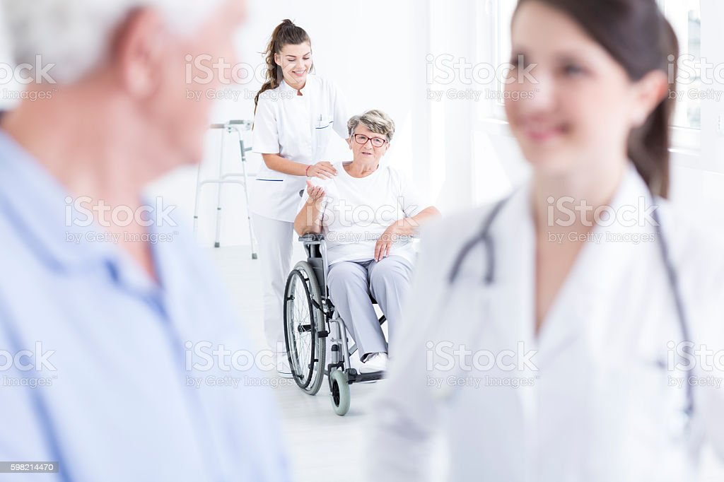 This nurse makes her happy foto royalty-free