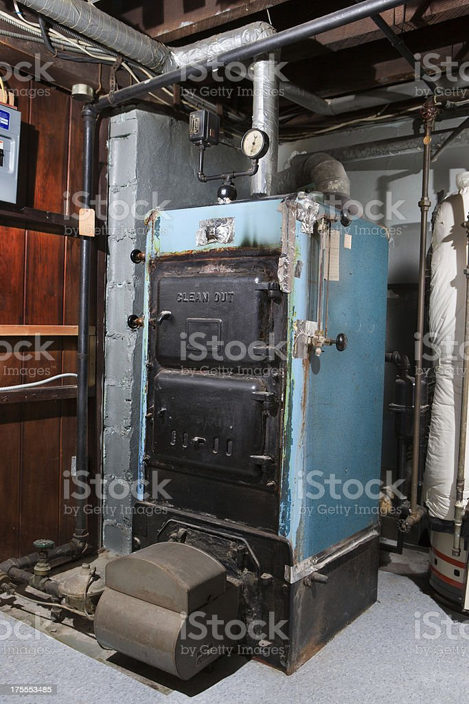 This old furnace stock photo