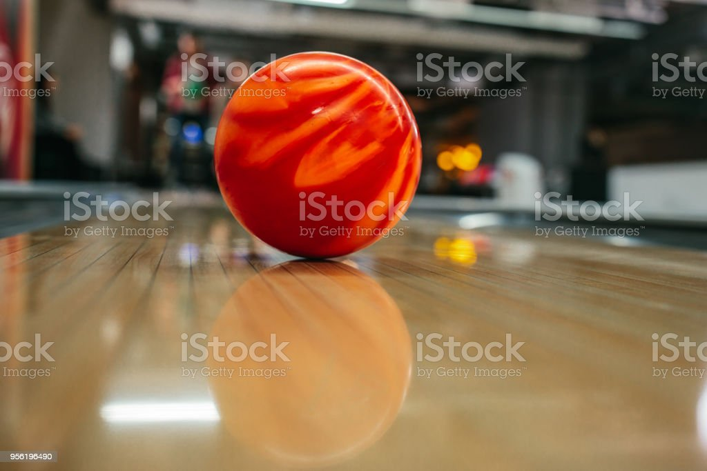 This one is going to knock down all the pins stock photo