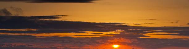 Orange Sunset Background stock photo