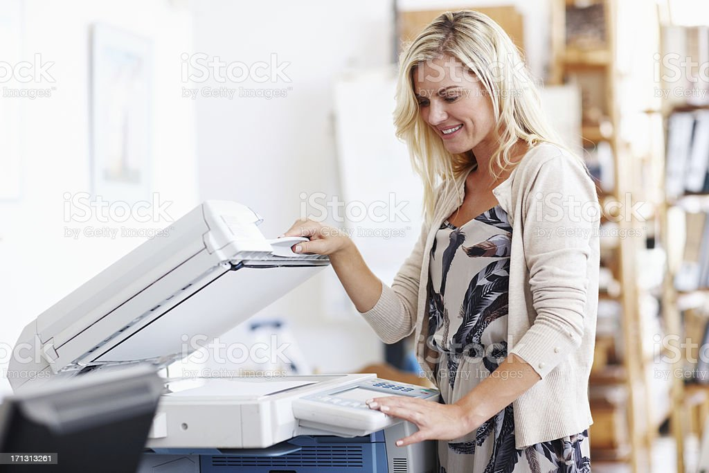 This photocopier makes life so much easier stock photo