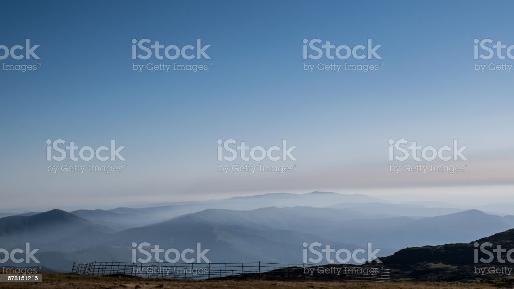 This photography was taken from the highest point of Portugal (continent). stock photo